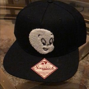 3275177f414bb Accessories - Casper the ghost SnapBack Hat New Black Cap Retro